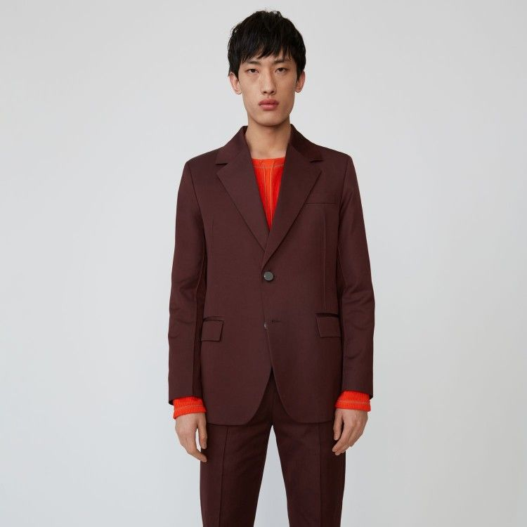Tailored jacket chestnut brown